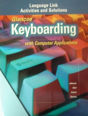 9780028042336: Keyboarding with Computer Application (Language Link Activities & solution)