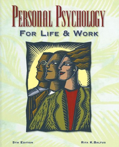 9780028042947: Personal Psychology for Life and Work