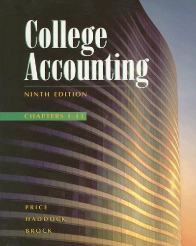 9780028046143: College Accounting Chapters 1-13