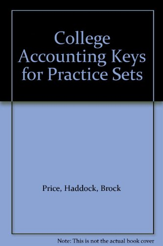 9780028046433: College Accounting Keys for Practice Sets