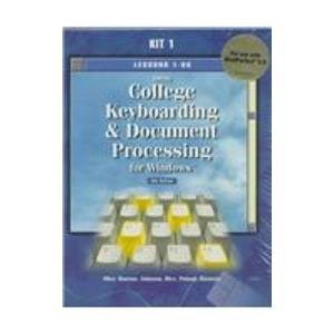 9780028047652: Gregg College Keyboarding & Document Processing for Windows: Lessons 1-60 for Use With Wordperfect 8.00