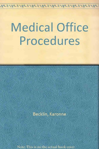9780028048819: Medical Office Procedures