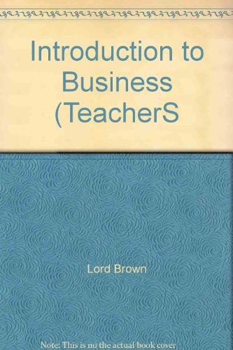 9780028141503: Introduction to Business (TeacherS