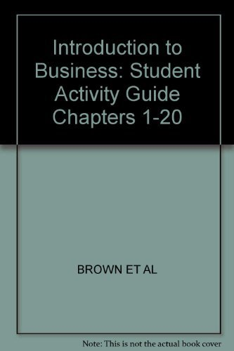 9780028141510: Introduction to Business Our Business & Economic World: Activity Guide