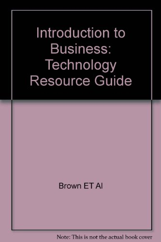 9780028141664: Introduction to Business: Technology Resource Guide