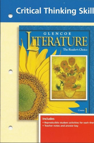 9780028173122: Critical Thinking Skills Grade 6 (Glencoe Literature The Reader's Choice Course 1)