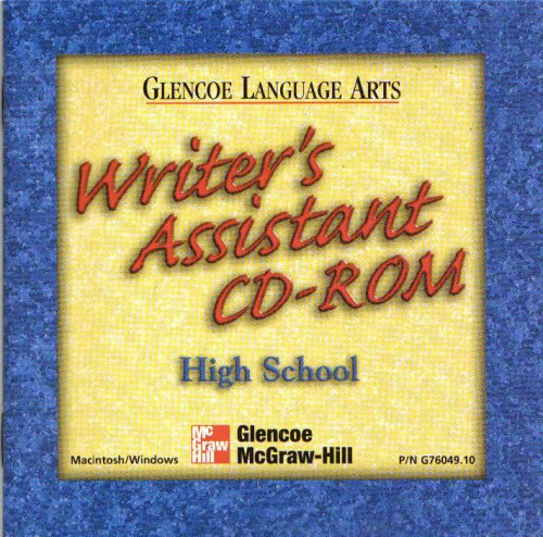 Glencoe Language Arts Writer's Assistant CD-Rom High School