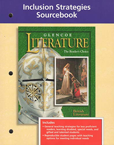 9780028177861: Glencoe Literature, the Readers Choice: Inclusion Strategies Sourcebook, British Literature
