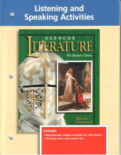 9780028178011: Glencoe Literature, the Readers Choice: Listening and Speaking Activities, British Literature