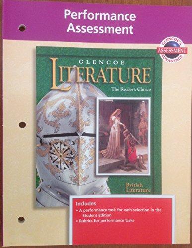 9780028178103: Performance Assessment British Literature (Glencoe Literature The Reader's Choice)