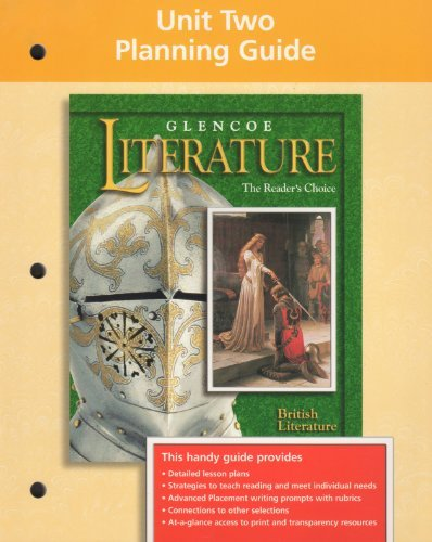 9780028178479: Glencoe Literature Unit Two Planning Guide British Literature The Reader's Choice