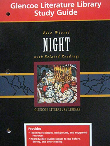 9780028180274: Study Guide for Elie Wiesel Night, Grade 10 (Glencoe Literature)