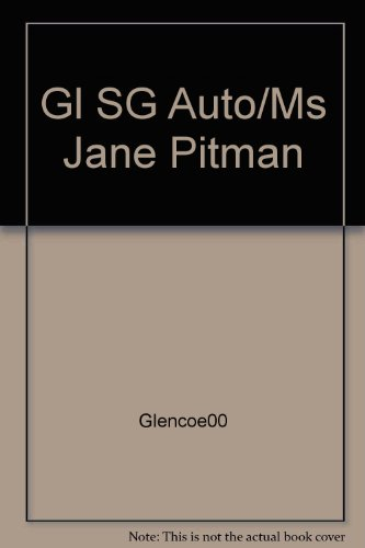 9780028180328: Gl SG Auto/Ms Jane Pitman