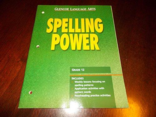 9780028180939: Glencoe Language Arts, Grade 12, Spelling Power Blackline Masters