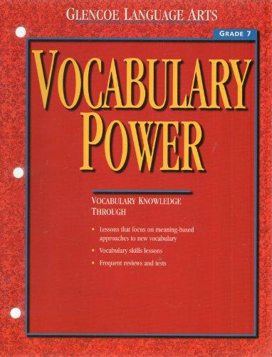 9780028182537: Glencoe Language Arts Vocabulary Power (Vocabulary Power Grade 7)