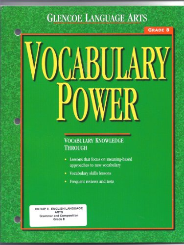 9780028182544: Vocabulary Power, Grade 8 (Glencoe Language Arts)