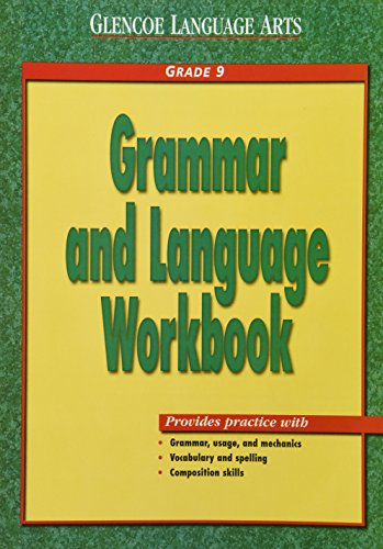 9780028182940: Glencoe Language Arts Grammar And Language Workbook Grade 9