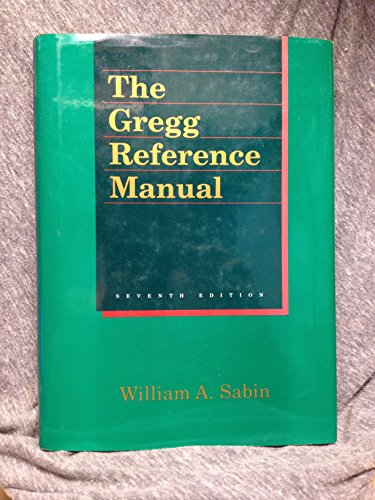 Gregg Reference Manual: Sabin, William A.