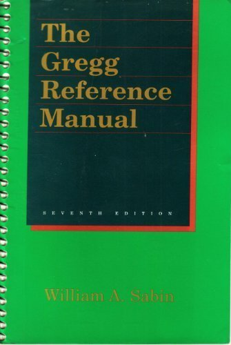 Gregg Reference Manual 7ED: Sabin, William