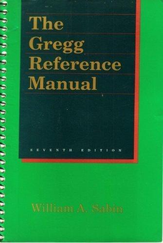 9780028199221: Gregg Reference Manual 7ED