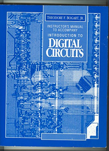 9780028199429: Introduction to Digital Circuits: Instructor's Manual