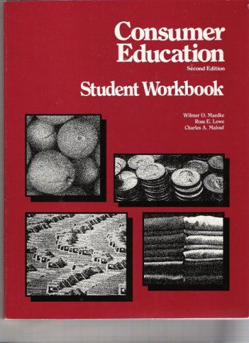 9780028201108: Consummer Education : Student Workbook (2nd edition)