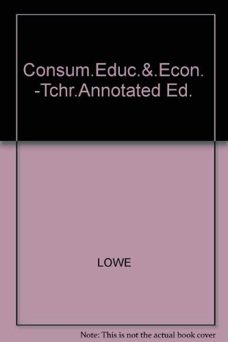 9780028202709: Consumer Education and Economics