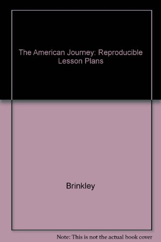 9780028217895: Reproducible Lesson Plans (The American Journey)