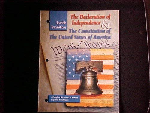 9780028218618: The Declaration of Independence & the Constitution of the United States of America (Spanish Translations)