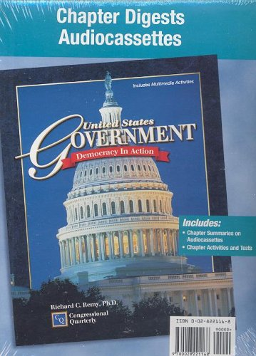 9780028221168: United States Government: Democracy in Action, Chapter Digests Audiocassette Package