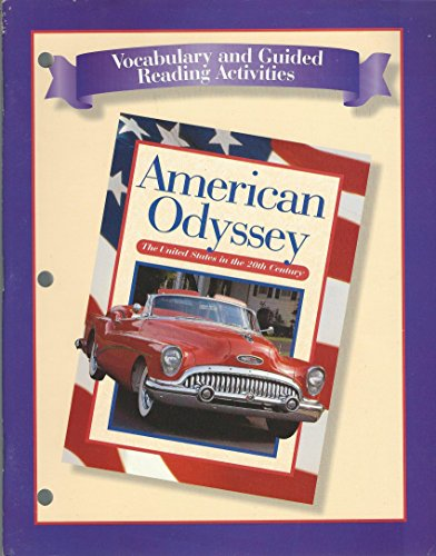 9780028222738: Vocabulary & Guided Reading Activities (American Odyssey)