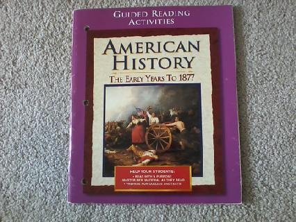 9780028223247: American History: The Early Years to 1877 Guided Reading Activities
