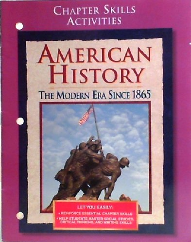 9780028223766: Chapter Skills Activities, American History (The Modern Era Since 1865)