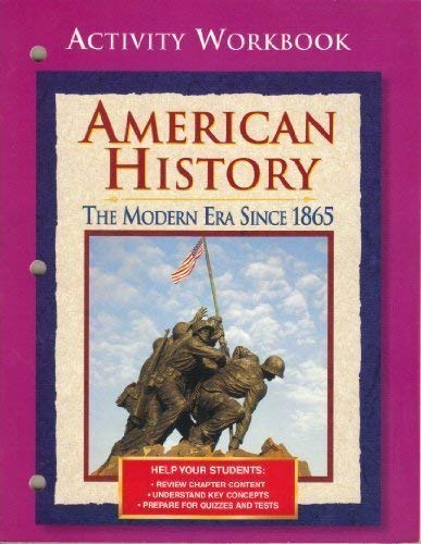9780028223797: American History: The Modern Era Since 1865: Reteaching Activities