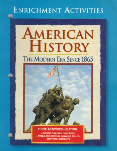 9780028223810: Enrichment Activities (American History The Modern Era Since 1865)