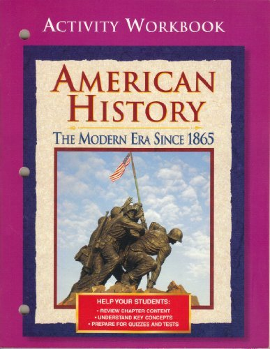 9780028224190: American History, The Modern Era Since 1865: Activity Workbook