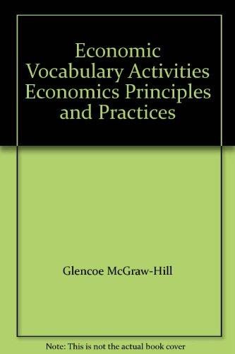 Economic Vocabulary Activities Economics Principles and Practices