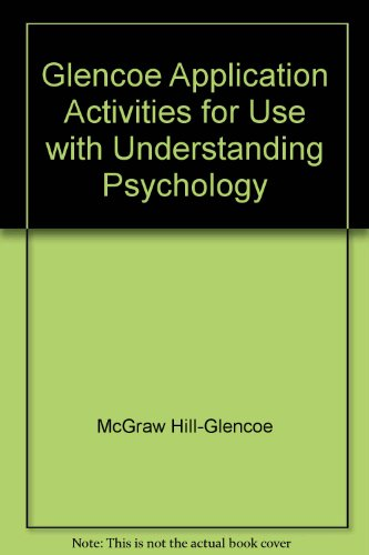 9780028231617: Glencoe Application Activities for Use with Understanding Psychology