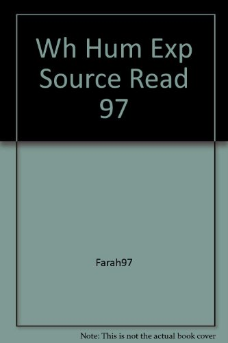 9780028232249: Source Readings (World History The Human Experience)
