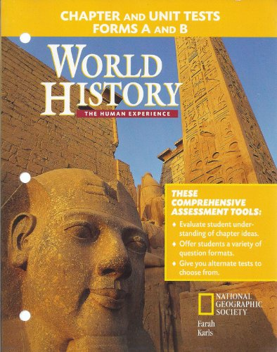 9780028232287: World History: The Human Experience: Chapter and Unit Tests Forms a and B