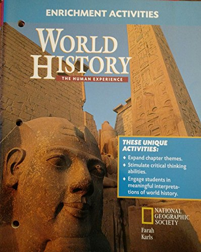 9780028232294: Enrichment Activities (World History The Human Experience)