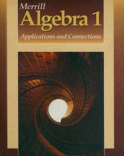 9780028241784: Merrill Algebra 1: Applications and Connections