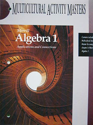 9780028241821: Merrill Algebra 1 Applications and Connections Muticultural Activity Masters
