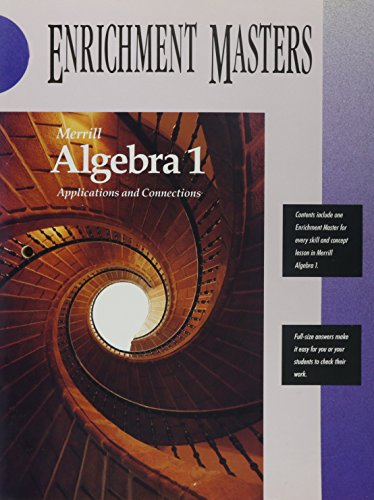 9780028241951: Merrill Algebra 1 Applications and Connections Enrichment Masters
