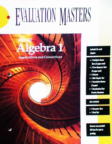 9780028241968: Merrill Algebra 1 Applications and Connections Evaluation Masters