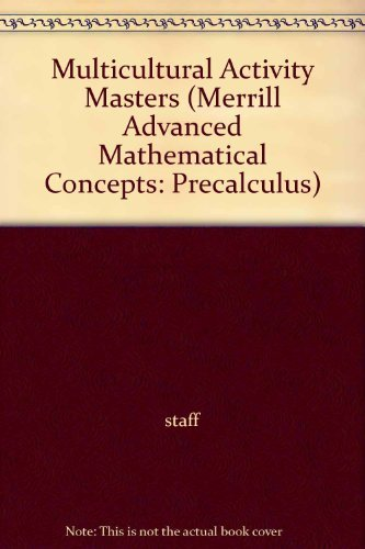 9780028242774: Multicultural Activity Masters (Merrill Advanced Mathematical Concepts: Precalculus)