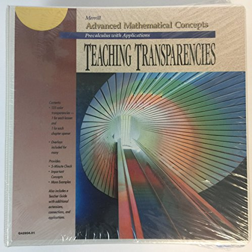 9780028242903: Teaching Transparencies for Merrill Advanced Mathematical Concepts: Precalculus with Applications