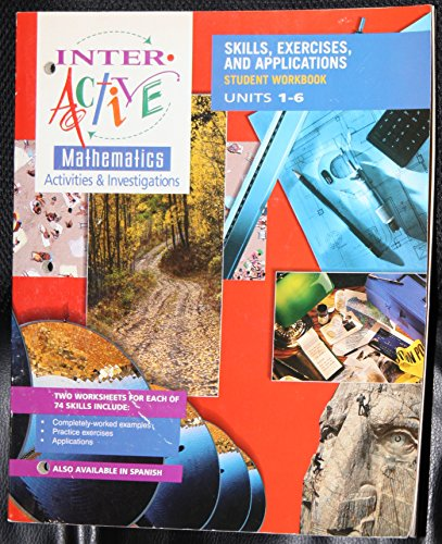9780028245492: Interactive Mathematics Activities & Investigations: Skills, Exercises, and Applications, Student Workbook, Units 1-6