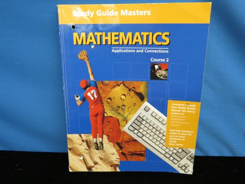 9780028246215: Study Guide Masters (Mathematics Applications and Connections Course 2)