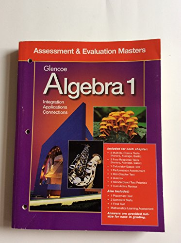 9780028248530: Glencoe Algebra 1: Assessment & Evaluation Masters